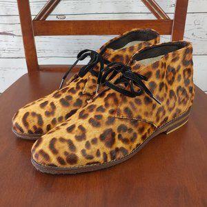 Johnston & Murphy Leopard Fur Booties